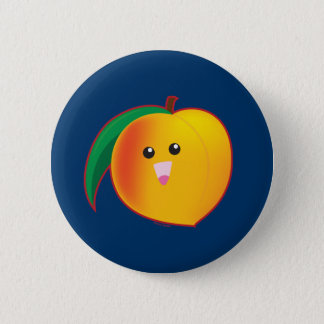 Peach Pinback Button