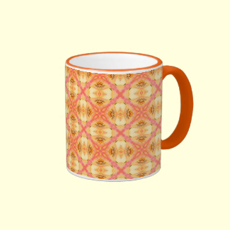 Peach Pineapple Abstract Circles Arches Mug
