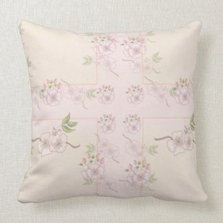 Peach Pink and Green Floral Victorian Art
