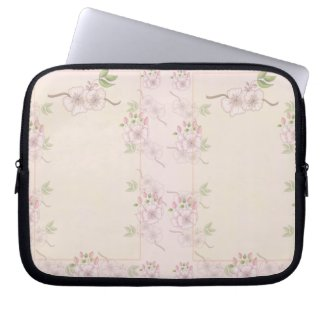 Peach Pink and Green Floral Victorian