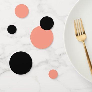 Peach Pink Chic Warm Solid Color Confetti