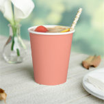 Peach Pink Chic Warm Solid Color Paper Cups