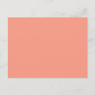 Peach Pink Chic Warm Solid Color Postcard