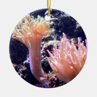 Peach Pink Coral Christmas Tree Ornament