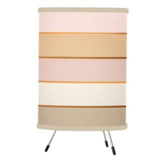 Peach Pink Cream Chocolate Striped Lamp