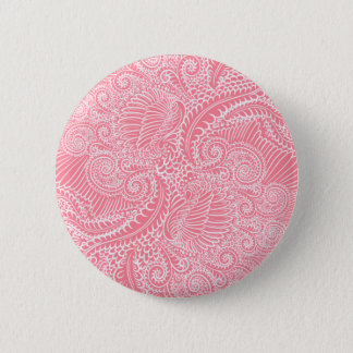 Peach Pink Floral twists Button