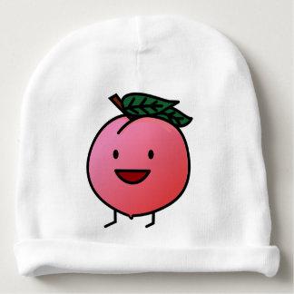 Peach Pink Happy Smiling Design Bro Baby Beanie