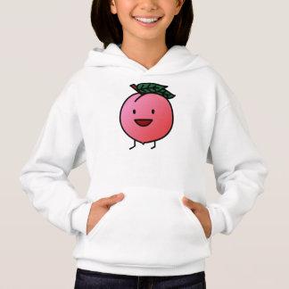 Peach Pink Happy Smiling Design Bro Hoodie