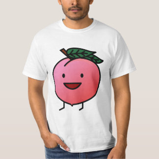 Peach Pink Happy Smiling Design Bro T-Shirt