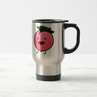 Peach Pink Happy Smiling Design Bro Travel Mug