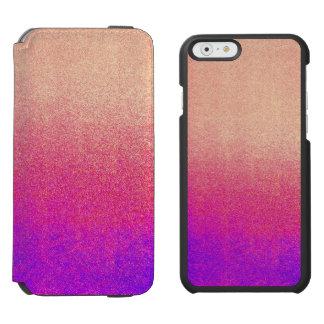Peach Pink Neon Purple Ombre Spray Paint Texture iPhone 6/6s Wallet Case