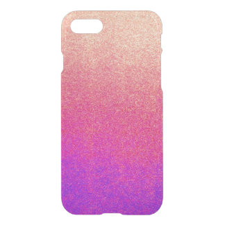 Peach Pink Neon Purple Ombre Spray Paint Texture iPhone 7 Case