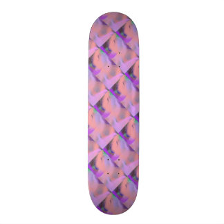 Peach Pink Purple Color Fun Abstract Skateboard