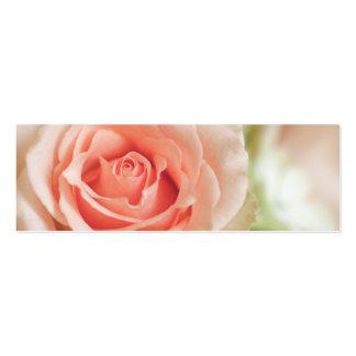 Peach Pink Rose Background Customized Mini Business Card