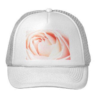 Peach Pink rose Mesh Hats