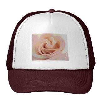 Peach Pink Rose Macro Trucker Hats