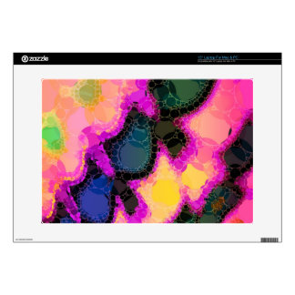 "Peach Pink Yellow Abstract 15"" Laptop Skin"