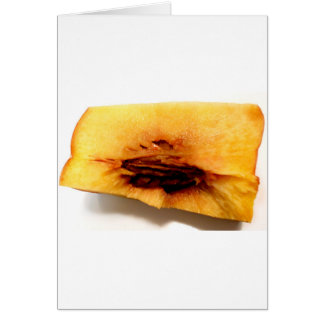 Peach Pit Color Study Photography Card