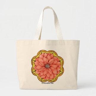 PEACH POINSETTIA Tote Bag