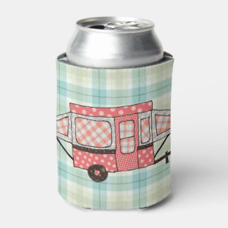 Peach Poka dot Popup Can Cooler
