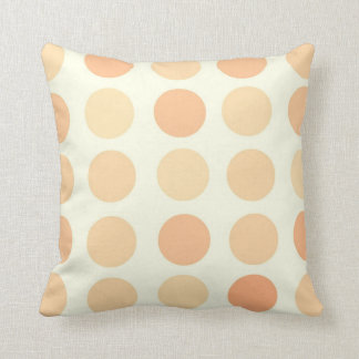Peach Polka Dot Pillows