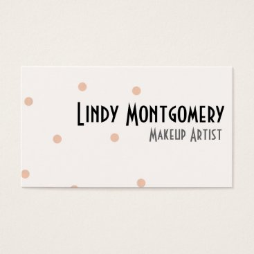 Professional Business Peach Polkadot Personalized Business Cards