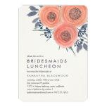 Peach Poppies Bridesmaids Luncheon Invitation