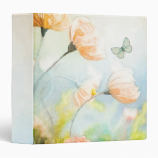 Peach Poppy Meadow Binder