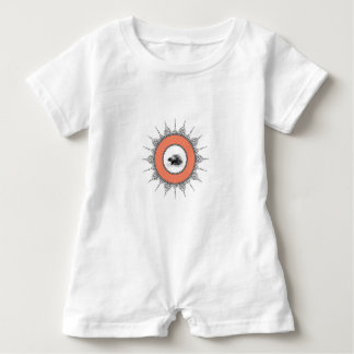 peach porcupine ring baby romper