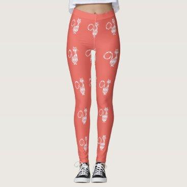 Professional Business Peach-Preppies_Diamond-Cat's_ LEGGING'S_XS-XL Leggings