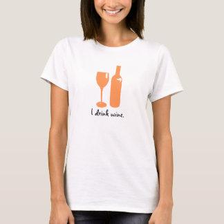 Peach Print for Wine Lovers   Women's Shirt