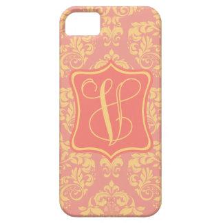 Peach Promenade Damask V iPhone SE/5/5s Case