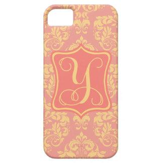 Peach Promenade Damask Y iPhone SE/5/5s Case
