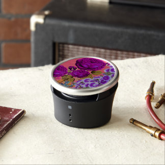 Peach Purple Abstract Rose Garden Speaker