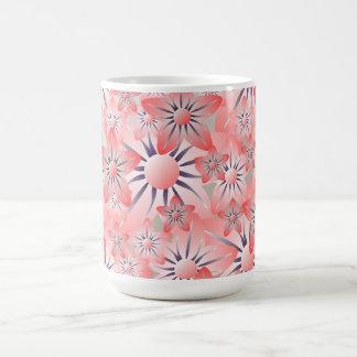 Peach Purple Cream Floral Mug