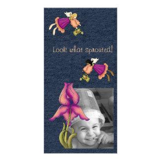Peach & Purple Iris Card