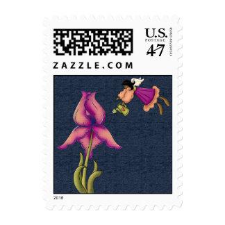 Peach & Purple Iris Postage