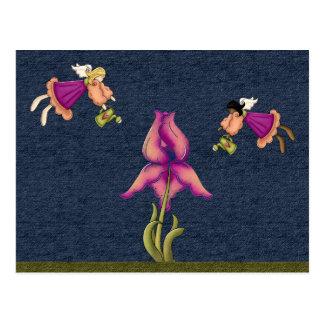 Peach & Purple Iris Postcard