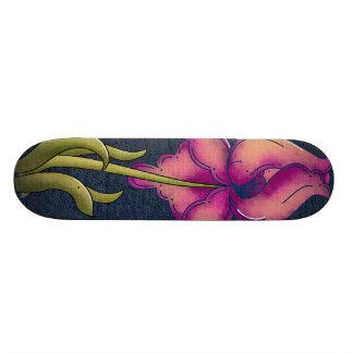 Peach & Purple Iris Skate Boards
