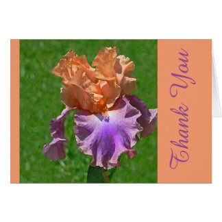 PEACH & PURPLE IRIS / THANK YOU/ IT WAS SO THOUGHT CARD