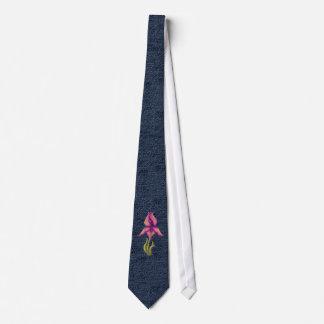 Peach & Purple Iris Tie