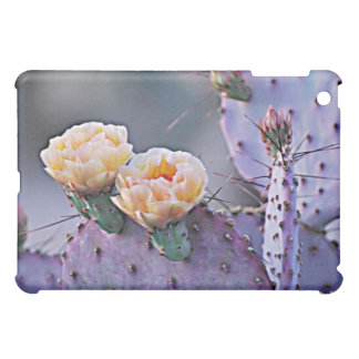 Peach Purple Prickly pear blossoms iPad Mini Case
