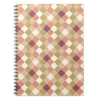 Peach Quilted Pattern Journal