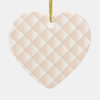 Peach Quilted Pattern with a Diamond Ceramic Ornament