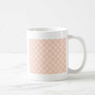 Peach Quilted Pattern with a Diamond Coffee Mug
