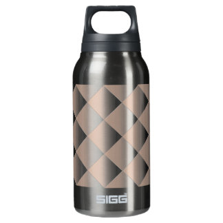 Peach Quilted Pattern with a Diamond Insulated Water Bottle