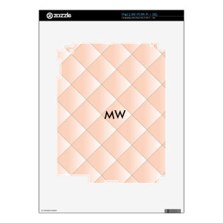 Peach Quilted Pattern with a Diamond iPad 2 Decal