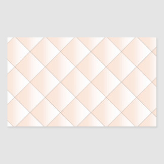 Peach Quilted Pattern with a Diamond Rectangular Sticker