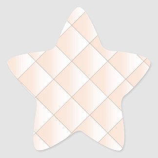 Peach Quilted Pattern with a Diamond Star Sticker