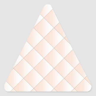 Peach Quilted Pattern with a Diamond Triangle Sticker